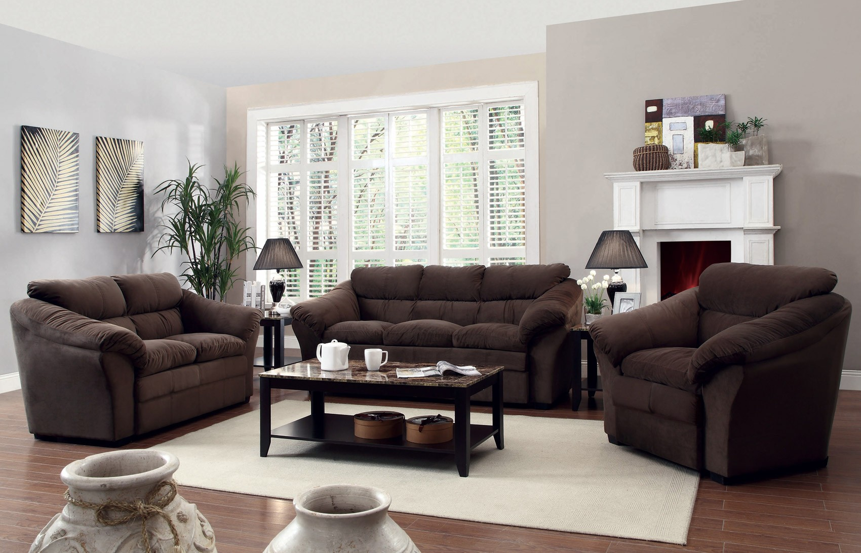 Arrangement Ideas For Modern Living Room Furniture Sets Living  ~ Sofa Loveseat And Chair Sets