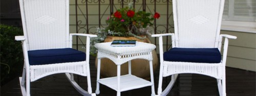 Create a British Colonial Style with Wicker Living Room Furniture